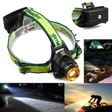 CREE XML T6 LED 8000LM 3-mode Tactical Zoomable Focus Headlamp Headlight TLY-19