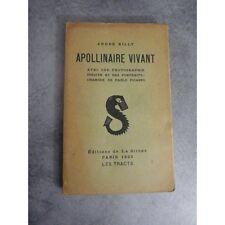 Billy  Appolinaire vivant Edition la Sirene Surréalisme Cubisme