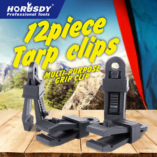 12pc Awning Tarp Clamp Set Clips Hangers Survival Tent Emergency Grommet $0 SHIP