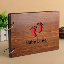 Romance Baby Lovers Wood Cover Photo Album 8 Inch Memory DIY Photos Book Gifts