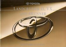 Toyota 4Runner & Land Cruiser II VX 1994-95 UK Market Sales Brochure