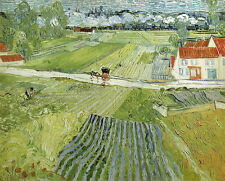 Holland. Landscape at Auvers after... By Vincent Van Gogh. Fine art print NEW