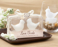 1 Love Birds White Bird Tea Light Candles wedding favors bridal shower favor