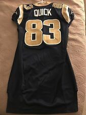 Brian Quick Game Issued Un Used Un Worn LA St Louis Rams Jersey 48