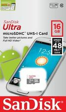 SanDisk 16GB microSD Ultra 48MB/s UHS-I C10 16G Micro SDHC for Smartphones
