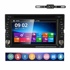 "NEW 6.2"" Double 2Din GPS DVD Player Stereo Radio Bluetooth iPod TV USB/SD+Camera"