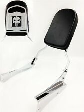 Motorcycle Skull Backrest Sissy Bar Fit 2001-2008 Honda Shadow Spirit 750 Vt750