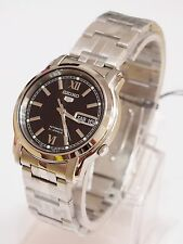 SEIKO 5 SNKK81 Stainless Steel Band Automatic Men's Black Watch SNKK81K1 New