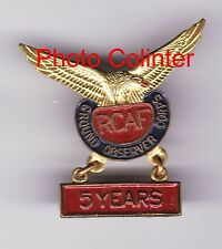 Royal Canadian Air Forces Ground Observers Corps 5  Years  -  lapel badge