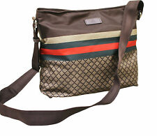 NEW Authentic GUCCI Diamante MESSENGER BAG SLING BAG Brown w/GRG web 270410