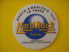Beer COASTER ~*~ HARD ROCK CAFE Toronto, Montreal Skydome CANADA    1st 15 Years