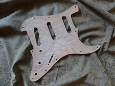 Hand Tooled Custom Leather Pickguard fits Fender Stratocaster SSS, HSS, HH, H