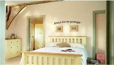 Always Kiss Me Goodnight Home Vinyl Wall Art  Decal Sticky Decor Letters