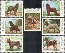 Laos 1986 Collie/Spaniel/Dogs/Domestic Animals/Pets/Nature/StampEx 7v set (b3)