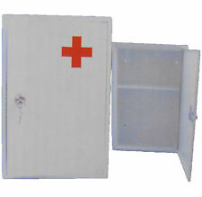 Wall Mounted Stainless Steel Lockable Medical 1st Aid Cabinet Storage Shelf Box