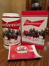 2016 Budweiser Annual Holiday Stein  plus 1 more Christmas  18 to choose from