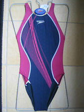 SPEEDO SWIMWEAR FEMALE BLUE RAZE FASTSKIN RECORDBREAKER L/B UK SIZE UK TIGHT 34""