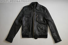 The Kol Jacket Surface To Air x Kings of Leon Black Leather Jacket sz XLarge XL