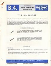 Wipac B4 Service List Motorcycles May 1963 Triumph BSA JAP Norton Ariel Scooter