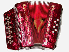 ROSSETTI  ACCORDION 34 BUTTON 3 SWITCH  FBE 12 BASS FA ACCORDION RED ROJO