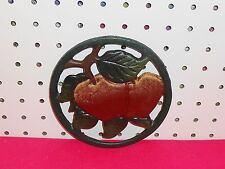 RED APPLES CAST IRON TRIVET OR WALL DECOR