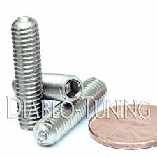 M6 x 25mm - Qty 10 - DIN 916 CUP Point Socket Set Screw  Stainless Steel A2 18-8