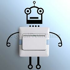 Robot Black Light Switch Vinyl Wall Sticker Bedroom Home Decor Removable Decals