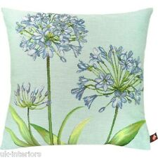 "14"" AGAPANTHUS Flower French Woven Tapestry Cushion Limited Edition"