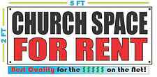 CHURCH SPACE FOR RENT Banner Sign NEW Larger Size Best Quality for the $$$
