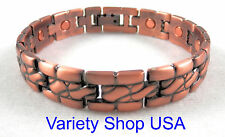 """Unisex Copper Magnetic Therapy 8-1/2"""" Alloy Bracelet A1002"""