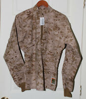 NWT USMC DESERT FROG MARPAT IWCS INCLEMENT WEATHER COMBAT SHIRT MEDIUM REGULAR
