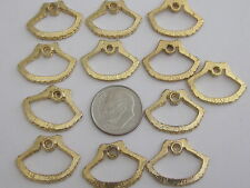 12 SMALL VTG OPEN SHELL CHARMS DANGLES PENDANTS 22x16mm FINDINGS JEWELRY CRAFT
