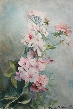 EDMOND ALLOUARD - 'Still Life of Flowers' - Signed - Framed - Early 20th C.