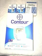 Bayer Contour Blood Glucose,100 Test Strips Plus Meter And 100 Lancets