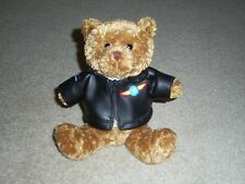 BLACK JACKET PILOT FLIGHT TRAINING TEDDY BEAR M&M CANDY PLUSH STUFFED ANIMAL