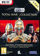 PC Total War Collection con Rome/Medieval II/Empire & Napoleon TOTAL WAR NUOVO