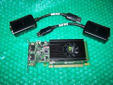New Nvidia NVS 310 PCI Express Low Profile 512MB Dual Monitor Card + Adapters