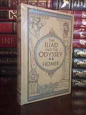 The Iliad and Odyssey by Homer Brand New Sealed Leather Bound Collectible Gift