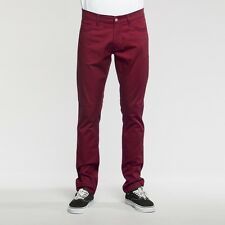 CARHARTT Stretch BEBEL PANT Huron COTTON/LYCRA RIGID W31L34 Bordeaux