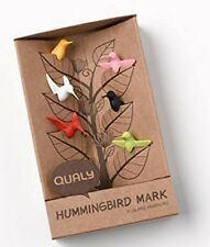Qualy Hummingbird Drinking Wine Glass Charm Markers Set of 6 in Gift Box