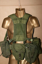 British Army Olive Green PLCE Webbing Yoke Belt Pouches Supergrade