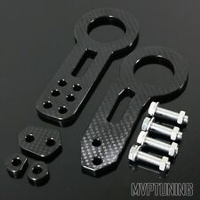 Black Carbon Fiber Look CNC Anodized Billet Aluminum Racing Front/Rear Tow Hook