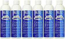 8oz BLITZ Concentrated Jewelry Cleaning Solution 6 Pack for Ultrasonic Cleaners
