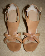 "Via Spiga Womens Leather Sandals 3"" Heels Size 9 MSRP $198.00"