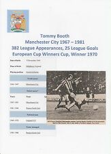 TOMMY BOOTH MANCHESTER CITY 1967-1981 ORIGINAL HAND SIGNED MAGAZINE CUTTING
