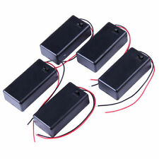 (5) Five 9V DC Cell Battery Box Holder with on / off switch w/ 6 inch Leads for