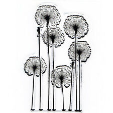 Meadow Dandelion Floral Flower Clear Cling Stamp