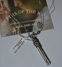 NEW NWT Alex and Ani Oak Leaf Whistle Necklace Silver Rare w/ Card