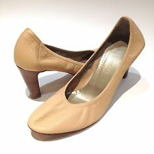 $300+NEW THEORY True Nude Beige Cream Full Leather Ballet Pump Heels ITALY EU40