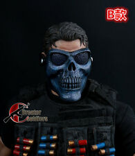 1PC 1/6 Mask Model Call-of-duty Skeleton Mask 12'' Soldier Figure Accessories